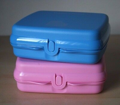 Tupperware 2 Sandwich Keeper  Blue/Pink  New Design  NEW!