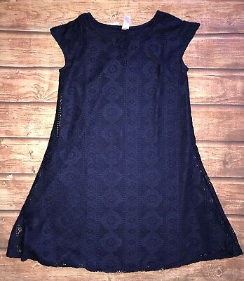 NWT Justice Girls Navy Blue Spring Dress Size 8