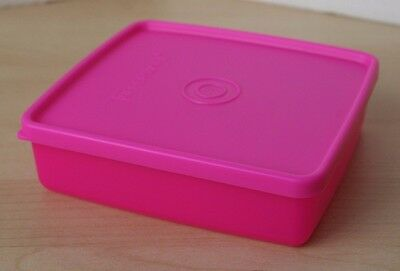 Tupperware Square away Sandwich Keeper Neon Pink  New