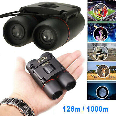 New Day And Night Vision 30 x 60 ZOOM Mini Compact Foldable Binoculars With Bag