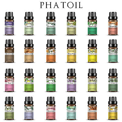 Natural 10ml Essential Oils 100% Pure Aromatherapy Essential Fragrance Aroma CHL