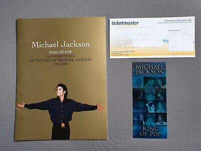 Michael Jackson This Is It Ticket + Memorial Book with Receipt