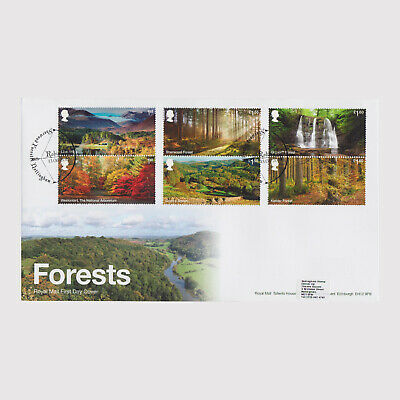 2019 Forests First Day Cover (FDC) - Sherwood Forest Postmark