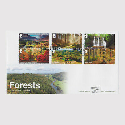 2019 Forests First Day Cover (FDC) - Bark & Rock Postmark