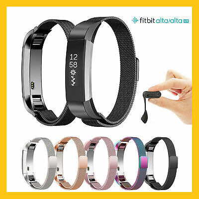For Fitbit Charge2 / Alta  / HR Strap Milanese Band Metal Stainless Steel Magnet