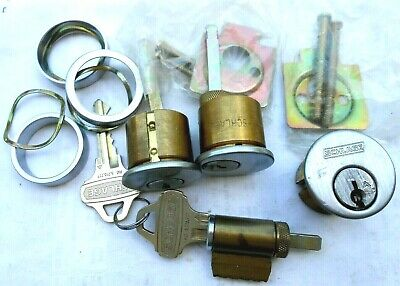 Lot  OEM SCHLAGE  EVEREST Lock cylinders   with 2 C123 keys  ALL cylinders KA