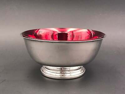 Vintage Gorham EP Silver bowl with Ruby glass insert, Paul Revere Silver plated