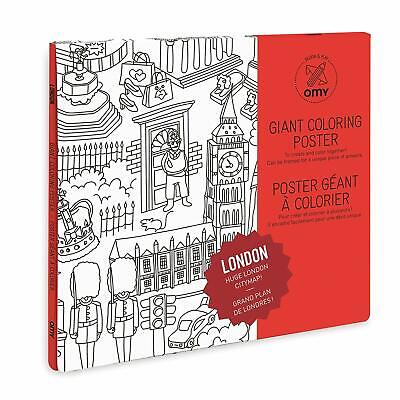 OMY GIANT COLOURING Poster ~ London ~ Huge City Map ~ 50 x ...