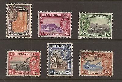 Hong Kong 1941 Centenary of British Occupation set fine used sg 163-68