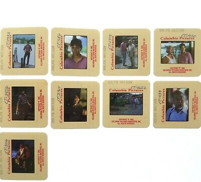 The Karate Kid II movie LOT of nine (9) 35mm slide transparencies 1985