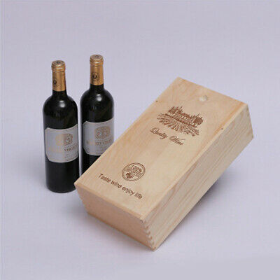 1 PC Red Wine Box Retro Portable Durable Vintage Storage Box for Gifts