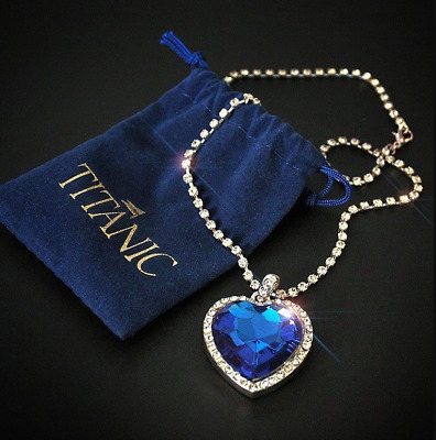 Titanic Heart Of The Ocean Necklace Pendant Fashion Banksy Inspired Statement