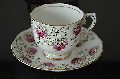 ROSLYN Fine Bone China Cup and Saucer -  FLOWER BALL 8457