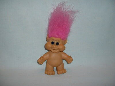 TROLLS Vintage ITB TROLL Action Figure Toy Doll (I.T.B/1991/PINK HAIR/GOOD LUCK)