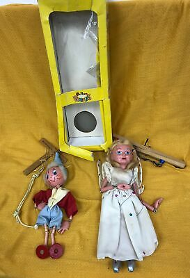 Collection Of 2 Vintage Pelham Puppets Includes Fairy & Boy + Original Box #245