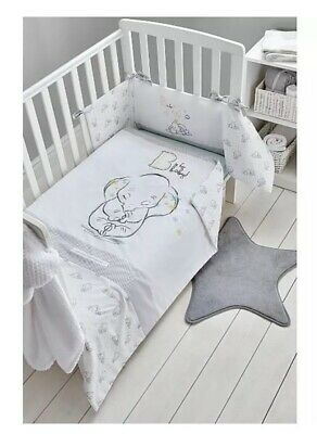 Disney Dumbo Unisex Baby Bedding Nursery Quilt - Cot & Cotbed 4 Tog Quilt