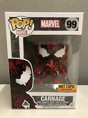 Funko Pop! Marvel CARNAGE Hot Topic Exclusive Bobble Head Figure #99 MIB
