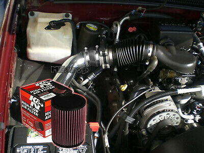 Filter BCP RED 96-99 Chevy C2500 K2500 Suburban 5.0//5.7 V8 Cold Air Intake