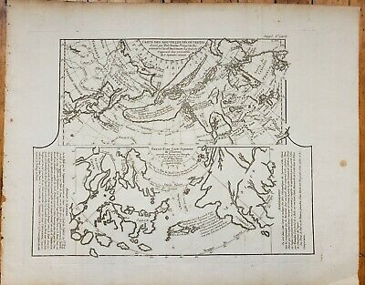 Antique Map of the North Pacific, Alaska, Eastern Russia, & Japan 1752