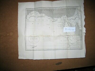 1808 Map of  Egypt with Lybia and Saudi Arabia Palestine by D'Anville