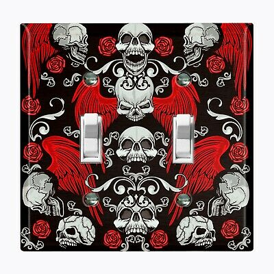 Metal Light Switch Cover Wall Plate Home Decor SKULL ANGEL