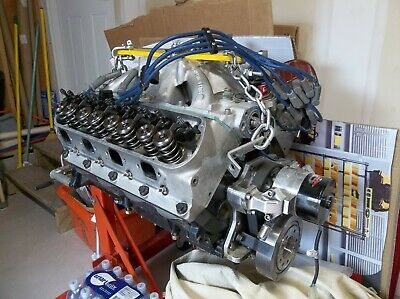 351W / 427 Small BLock Ford Long block, race prepped, makes
