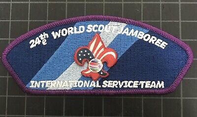 24th World Scout Jamboree Purple IST CSP USA Contingent Patch