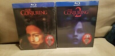 The Conjuring 1 & 2 2 Disc Bluray Best Buy Exclusive Lenticular Slipcover Rare