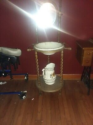 antique handwashing station very beautiful come with extra jar and bowl