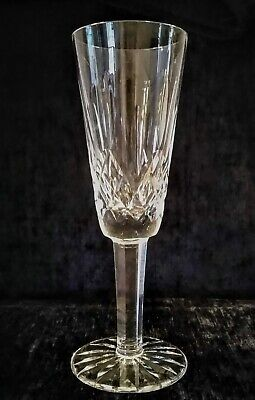 "LOVELY WATERFORD CRYSTAL LISMORE CHAMPAGNE FLUTE / GLASS 7 1/4"" H x 2 5/8"" BASE"