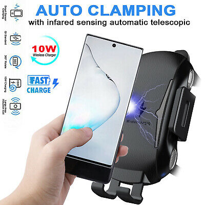 For Samsung Galaxy Note 10 Plus Qi Wireless Car Charger Fast Charging Mount Vent