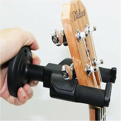 Guitar Hanger Wall Mount Holder Stand Hooks Black Display Acoustic Electric Bass