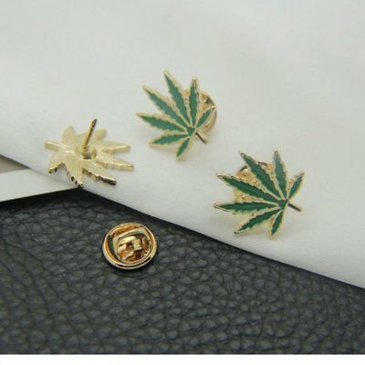 Maple Leaf Lovely Enamel Lapel Collar Pin Corsage Brooch Fashion Jewelry Gifts