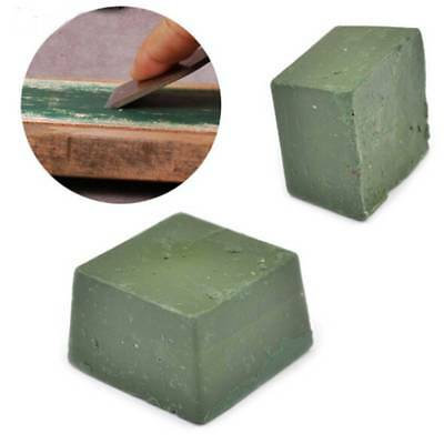 2x Green Leather Strop Sharpening Polishing Compound Leathercraft Abrasive Tools