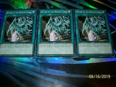 3x Return of the Dragon Lords 1st Edition Common SDRR-EN030 Yu-Gi-Oh!