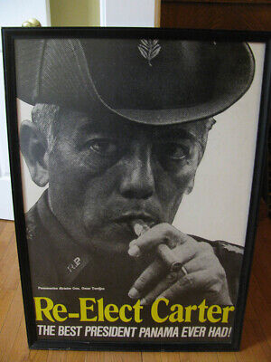 Re-Elect Carter The Best President Panama Ever Had 1980 Presidential Election