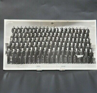 Vintage WWII US Farragut Idaho Navy Group Panoramic Photograph July, 27 1944