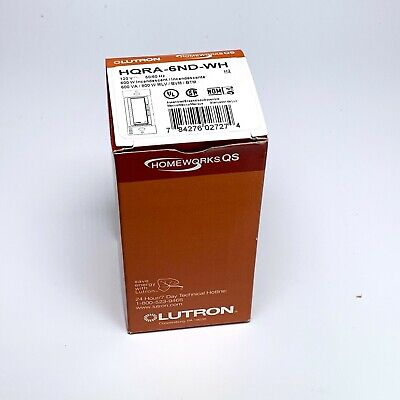Lutron HQRA-6ND-WH Dimmer - Bianco - Nuovo
