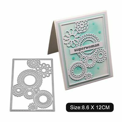 Round Hollow Flower Metal Cutting Dies Stencil Scrapbooking Album Paper Card DIY