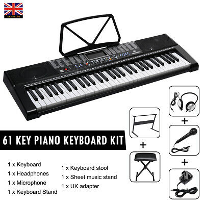 NEW 2108 Electric Keyboard Digital Music Piano 61 Keys Instrument & Microphone