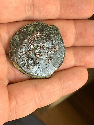Byzantine large bronze follis of emperor Justinian I (527-565) Thessaloniki mint
