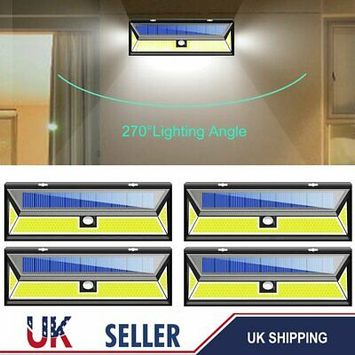 Security Super Bright Solar Powered LED Outdoor Wall Lights Shed Garden Lighting