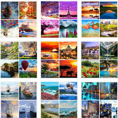 40*50CM Scenery DIY Paint By Number Kit Digital Oil Painting Art Wall Home Decor