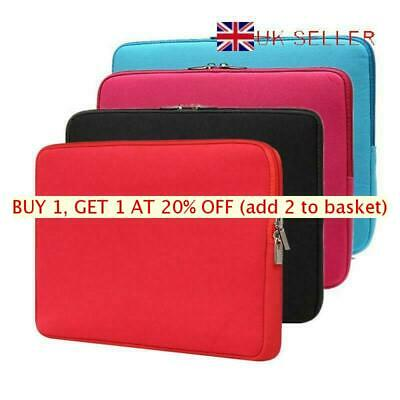 Soft Laptop Bag Sleeve Case Cover For MacBook Air Pro Lenovo HP Dell 11-17 inch