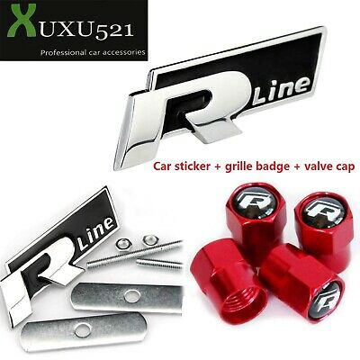 Genuine High Chrome Self-Adhesive R-LINE Badge 5NA853688D2ZZ