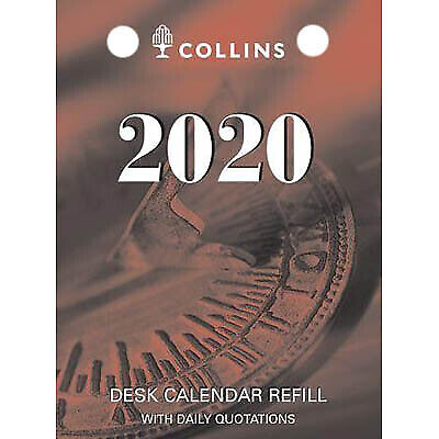 2020 Collins Desk Calendar Refill Day to Page Top Punch DCRT-20