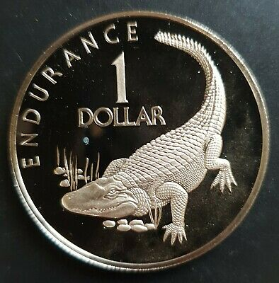 1976 Guyana  1 Dollar PROOF Coin, (10th Anniversary of Independence),....
