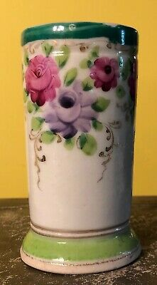 Antique France Thieme Dresden? Hand Painted Porcelain Desk Vanity Caddy Vase 4.5