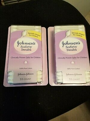 (2) Johnson's Baby Safety Swabs 55ct Each Brand New In Box..