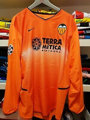 Maglia Indossata Valencia C.f 02-03 Match Worn Jersey Player Issued